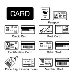 set of electronic cards and other cards vector image