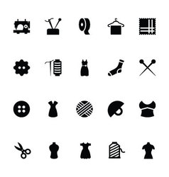 Sewing icons 1 vector