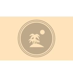 Silhouette of palm and moon on the islands vector image