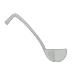 Simple metal ladle vector