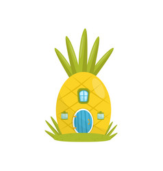 Small house made from pineapple fairytale fantasy vector