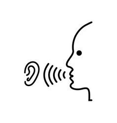 speak and listen symbol vector image