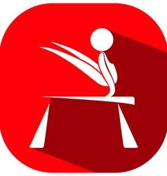 Sport icon design for gymnastics on bar vector image