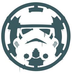 Star wars stormtrooper imperial logo vector