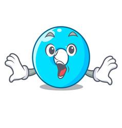 Surprised cartoon the number zero color blue vector