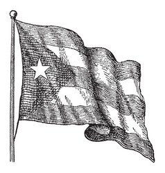The flag of cuba was adopted on may 20 1902 vector