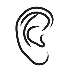 The human ear vector image