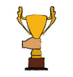 trophy cup championship vector image