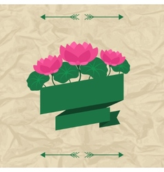 Tropical background with stylized lotus flowers vector image
