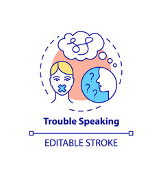 Trouble speaking concept icon vector