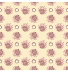 Vintage abstract flower seamless pattern vector image