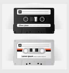 Vintage cassette tape vector