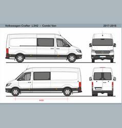 Volkswagen crafter combi van l3h2 2017-2018 vector