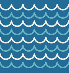 wave pattern abstract seamless sea background vector image