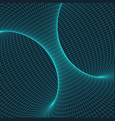Wireframe torus with connected lines and dots vector