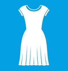 Woman dress icon white vector