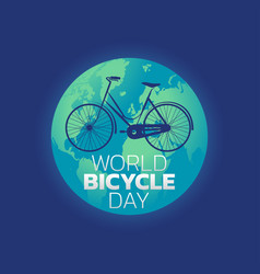world bicycle day vector image