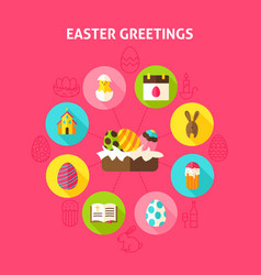 concept easter greetings vector image