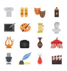 design and art skill icons artistic entertainment vector image