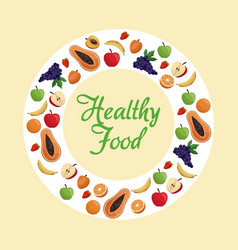 healthy food fruit poster vector image