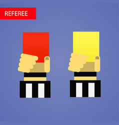 referee hand with red and vector image vector image