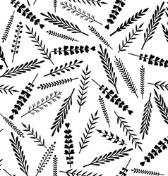 Seamless pattern of leaves vector image
