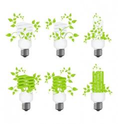 set power saving lamps vector image vector image