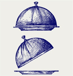 Cloche with open lid vector image vector image