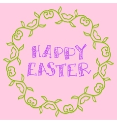 Happy Easter Background Simply Hand Drawn vector image vector image