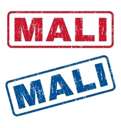 Mali rubber stamps vector