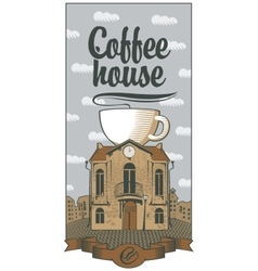 coffee house the best in town vector image vector image