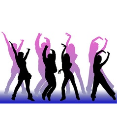 dancing peoples vector image vector image