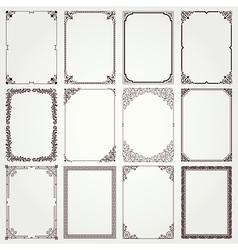 Frames and borders a4 set 4 vector