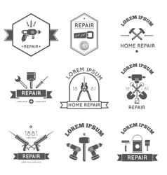 Home Repair Tools Labels Flat vector image