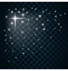 Shine star sparkle icon 3 vector image vector image
