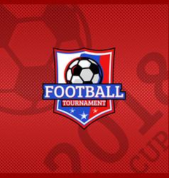 2018 football cup logo football ball on the flag vector image