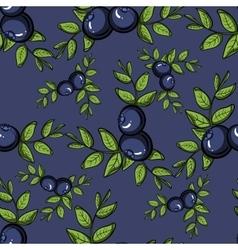 BlueberryPattern3 vector image
