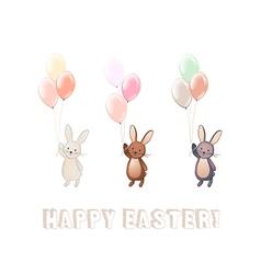 Cute Bunny set vector image