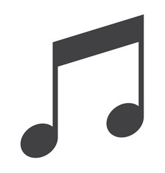music glyph icon web and mobile note sign vector image vector image