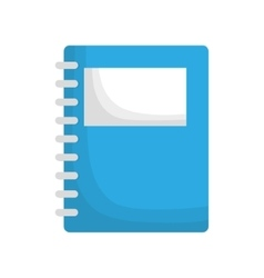 notebook notepad paper vector image