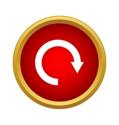 Refresh icon simple style vector image
