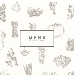 Trendy restaurant menu design hand drawn vector image