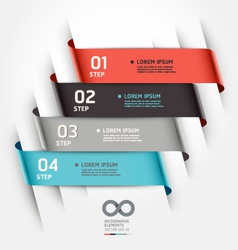 Abstract ribbon options banner vector