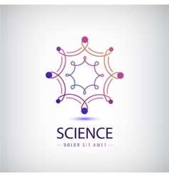 abstract science logo laboratory vector image
