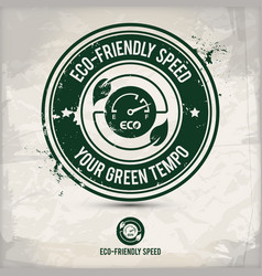 alternative eco friendly car board stamp vector image