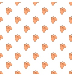 Applause pattern cartoon style vector image