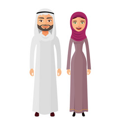 arab couple man and woman together happy vector image