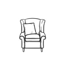 armchair hand drawn sketch icon vector image
