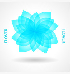 art design elements flower logo vector image