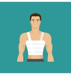 Bandaged chest vector image